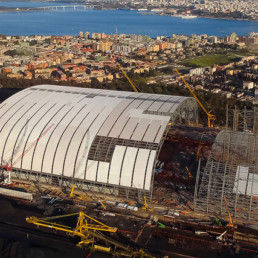 ILVA Coverage of the Taranto mining park - Italy