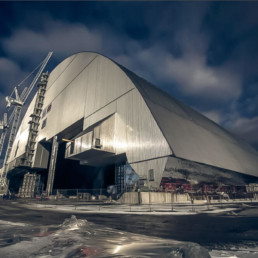 Chernobyl nuclear power station sarcophagus - Ucraine