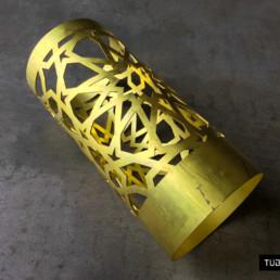 Taglio fibra tubo ottone illuminazione