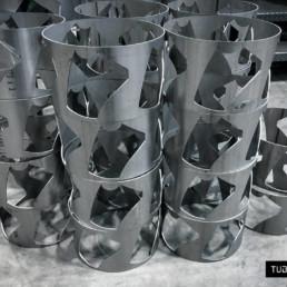 Taglio laser tubi fibra inox