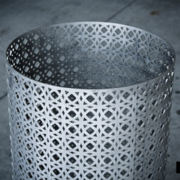 Laser cutting of stainless steel lighting element