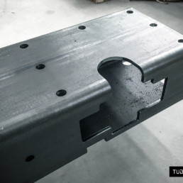 Tube laser cutting for industrial components