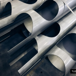 Laser cutting of tubes for grinding plants
