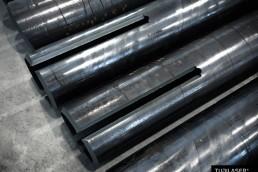 Taglio laser spacchi piastre cianfrinati per controventi