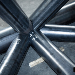 Taglio laser capriate per struttura metallica